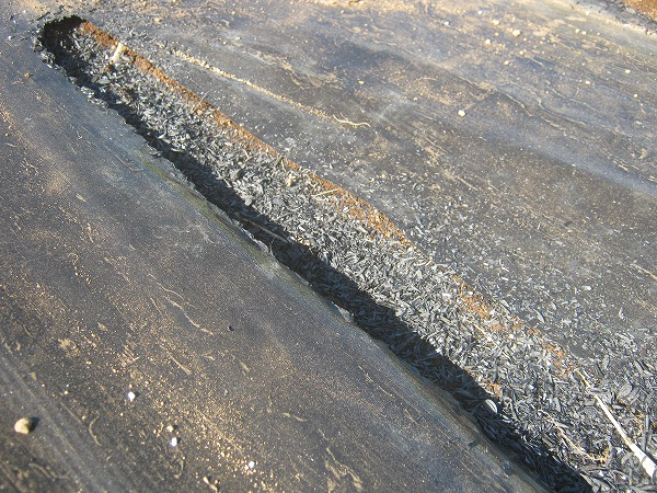 適湿を保つためにくん炭を使用