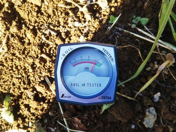 シンワ 土壌酸度計Aの使い方で土壌の酸度を測定